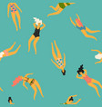 seamless pattern with swimming women vector image vector image
