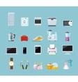 set household appliances design flat vector image
