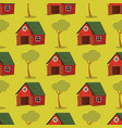 set image pattern barns with trees vector image