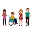 Special needs children happy set vector image vector image