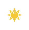 sun icon - simple element vector image vector image