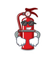 super cool fire extinguisher character cartoon vector image