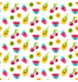 tasty and sweet summer fruits art pattern vector image vector image