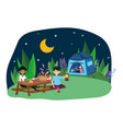 tent and people design vector image