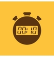 The 10 seconds minutes stopwatch icon Clock and vector image vector image