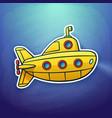 toy yellow submarine floating deep underwater vector image