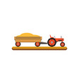 tractor with trailer transporting grain vector image