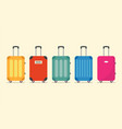 travel luggage set for vacation and journey vector image