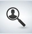 user search icon magnifying glass icon vector image