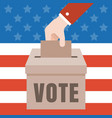 Vote with american flag