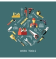 Work Tools Round Composition vector image vector image