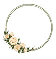 wreath with beige rose vector image
