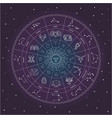 zodiac circle with star sign drawings and vector image
