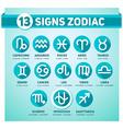 13 signs zodiac vector image