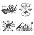 ski club retro badge vector image