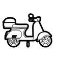 scooter drawing isolated icon design vector image