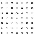 49 Different web icons pictogram vector image vector image