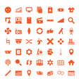 49 web icons vector image vector image