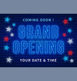 advertisement grand opening vector image vector image