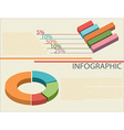 An infographics showing graphs vector image