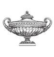 ancient vase hand drawing vector image