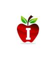 apple letter i logo design template vector image vector image