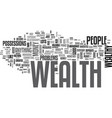 attract the wealth you deserve text word cloud vector image vector image