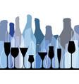 background bottle blue vector image vector image