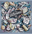 bathroom hand drawn doodles vector image