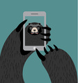 Bear selfie Grizzly photographed themselves on vector image