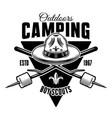 boy scout black camping vintage emblem vector image vector image