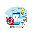 crowdfunding strategy project to finance support vector image vector image