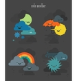 Cute weather characters collection set 2 vector image