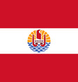 flag of french polynesia france vector image