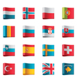 flags - europe part 3 vector image