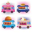 food vans vector image vector image