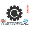 Gearwheel Rotation Flat Icon With 2017 Bonus Trend vector image vector image
