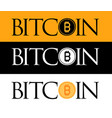 golden bitcoin icon isolated on golden white and vector image vector image