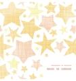 Golden stars textile textured frame corner pattern vector image