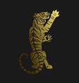 golden tiger vector image vector image