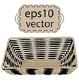 Gray wicker basket handmade vector image vector image