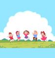happy cartoon children preschool playing kids