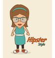 Hipster lifestyle design vector image vector image