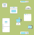 home appliance set seamless background vector image vector image