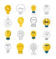Idea lamp set vector image vector image