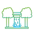 line water tank reserve with ecology trees vector image vector image
