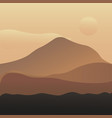 mountain landscape with vector image vector image