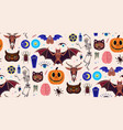 occultism set seamless pattern with magic vector image vector image