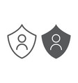 personal protection line and glyph icon privacy vector image vector image
