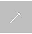 Pickax computer symbol vector image vector image